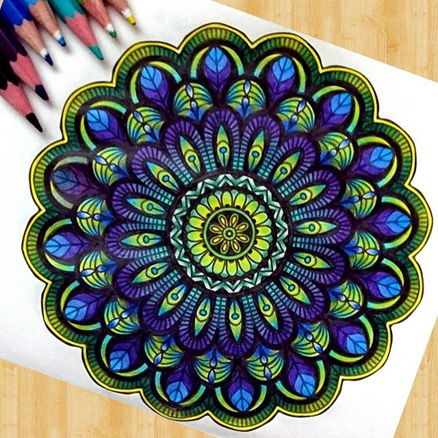 Don T Forget To Colour Your Dreams Goodnight Mandala Adultcoloring Fabercastell Staedtler Pencils Mandala Art Dots Art Dot Painting