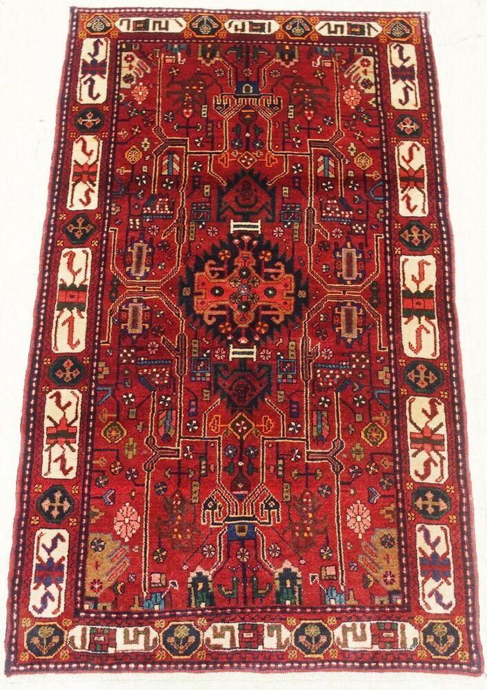 Hand Knotted Nahavand Tribal Oriental Rug Wool Brick Red Carpet 4 1 X 6 10 Persiantribalgeometricnahavand In 2020 Oriental Rug Rugs Tribal Geometric