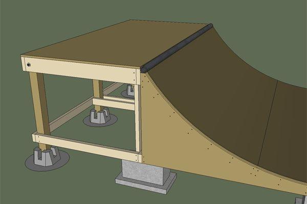 Ramp foundation tutorial skateboard ramp plans for Skateboard chair plans