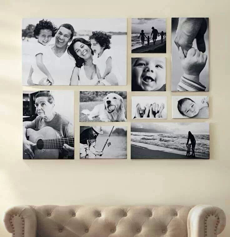 Beautiful ideas for hanging up family photos