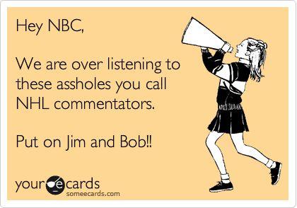 I love Bob Miller and Jim Fox. They are @LA Kings hockey.