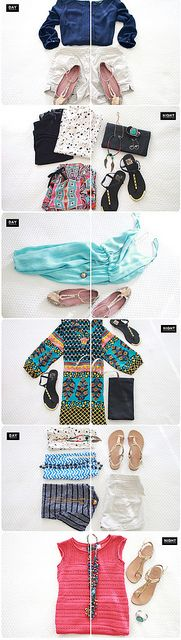 vacation outfits / packing tips