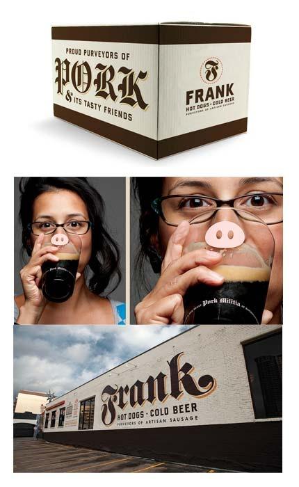 Restaurant brand identity design for Frank, by Helms Workshop