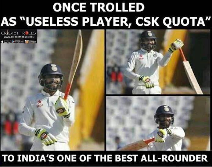 That's  Ravindra Jadeja For You! For more cricket fun click: http://ift.tt/2gY9BIZ - http://ift.tt/1ZZ3e4d
