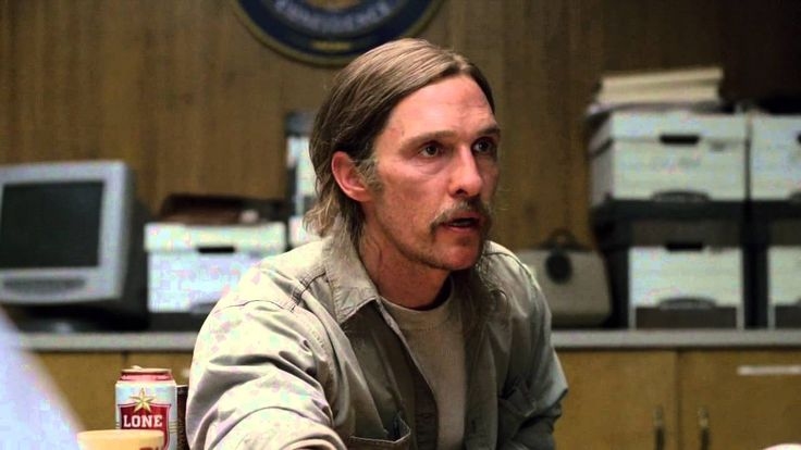 Matthew McConaughey in HBO's original series True Detective. The clip is from the first episode.