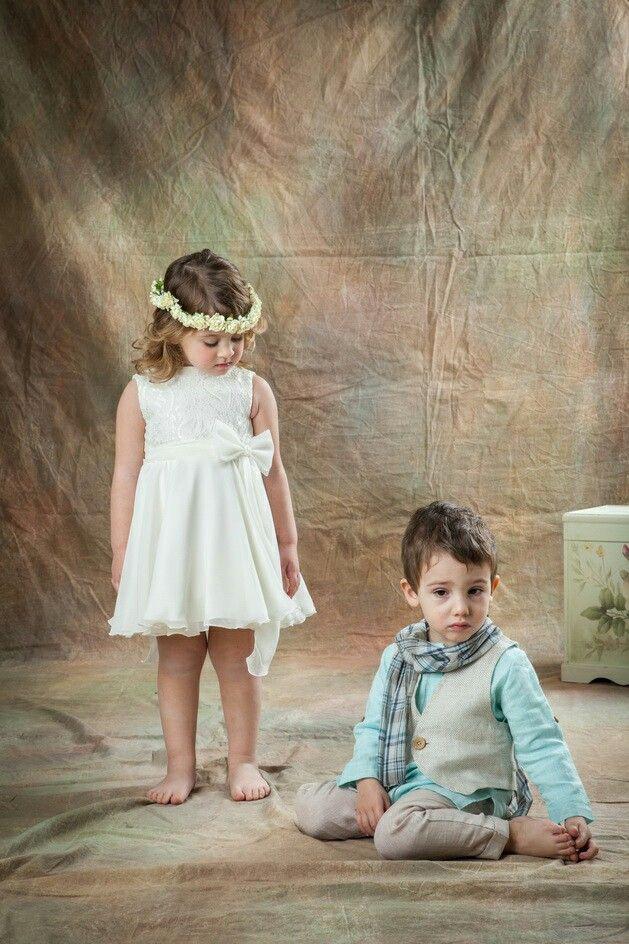 Βαπτιστικο φορεμα και κουστουμακι Romantics Collection by Alis Sariyian