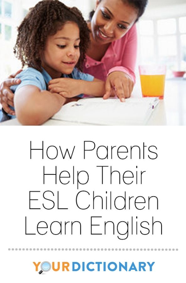 How parents help their esl children learn english
