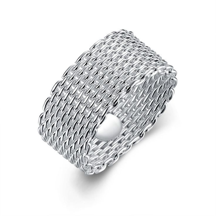 Exquisite White Gold 585 Plated Mesh Knuckle Rings For Women Party Men Jewelry Vintage Bague Anel Masculino Anillos QA0870 #Affiliate