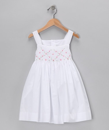 Take a look at this White Trellis Vine Dress - Infant & Toddler by Fantaisie Kids on #zulily today!