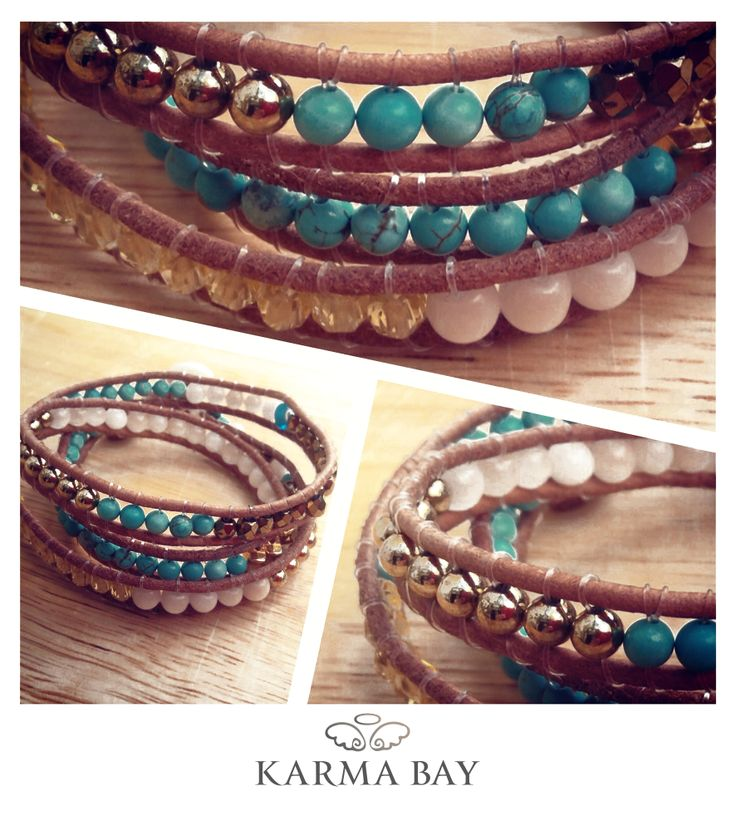 You wrap me round and round! New limited collection of leather wrap #bracelets by #KarmaBay coming soon! #ArmCandy #KarmaBay #Fashion #Accessories #Jewellery