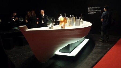 Boat table for showroom