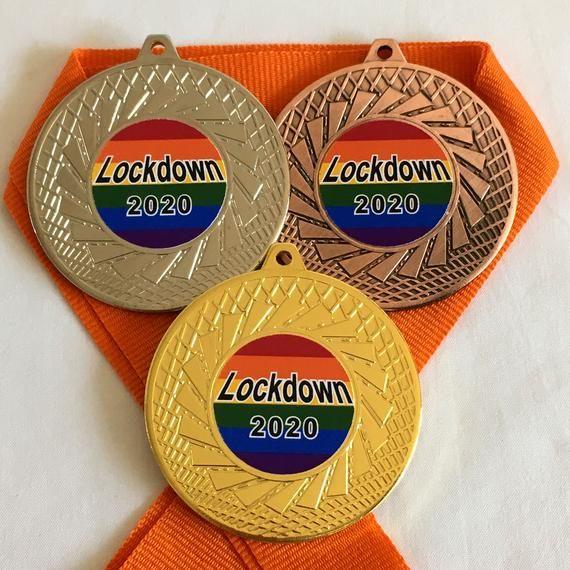 Lockdown 2020 Lockdown Medal /& Rainbow Ribbon