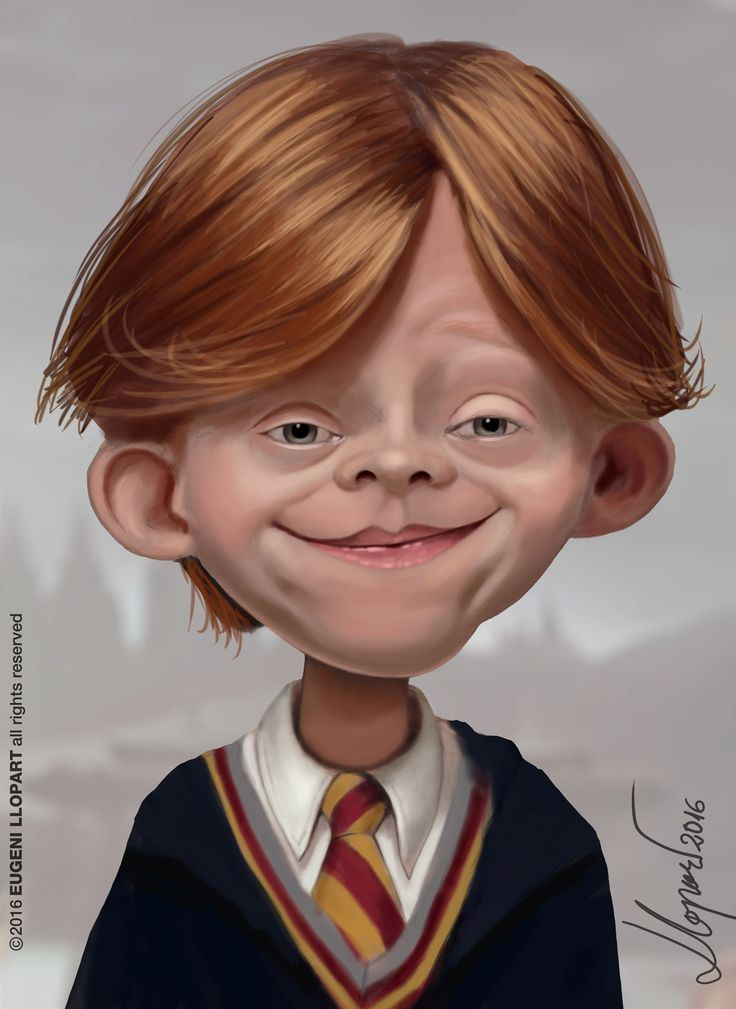 Caricatura de Ron Weasley Harry Potter