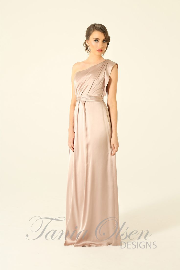 203 best tania olsens designs images on pinterest olsen elegant silk one shoulder oyster evening dress by tania olsen features draped detailing perfect as a melbourne weddingwedding gownsevening ombrellifo Gallery
