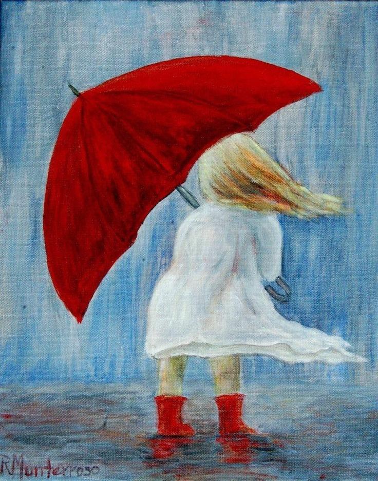 Umbrella painting rudi monterroso denver co http www for Painting red umbrella