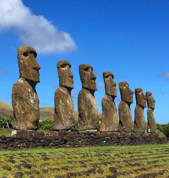 The Moai of Easter Island #RapaNui #EasterIsland