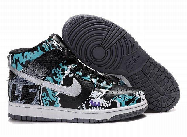 Blue & Black Nikes. High ShoesTop ...
