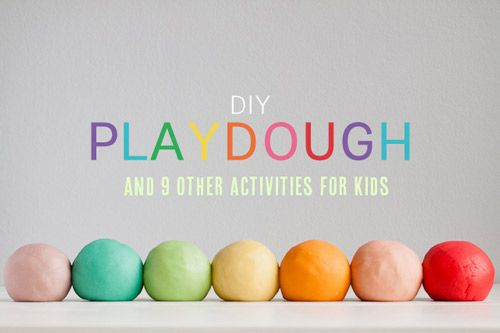 DIY playdough and 9 other homemade games for kids