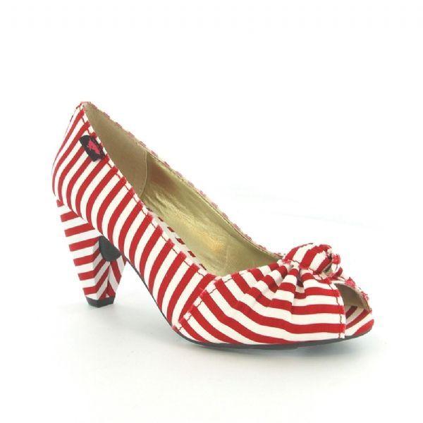 Rocketdog Sedona Heel in red and white stripe - so summery ...