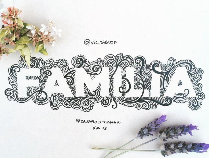 Instagram @vic.dibuja  Zentangle doodle type typography graphic design