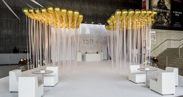 Docler Holding - ©Shine a light 2015  White / Corporate event / Ballon / Gold / Scenography
