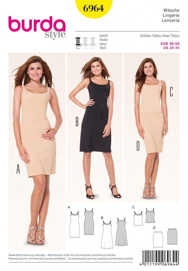 Burda B6964 Burda Style Lingerie Sewing Pattern