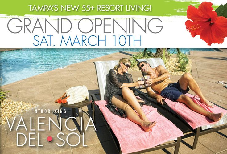 BE THE FIRST to discover Valencia del Sol, the most exciting new 55+ resort community, from the mid $200's. A gorgeous new home with luxury standard features, endless entertainment, action-packed activities and resort-style relaxation is waiting for you at Valencia del Sol. Register for VIP updates today!