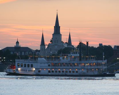 Creole Queen at sunset