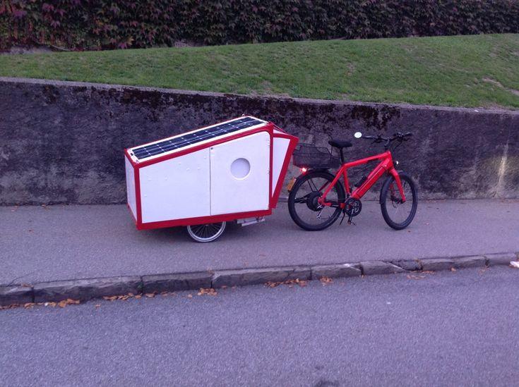 El Patu Bike Caravan Folded See The Big Solar Panel For The