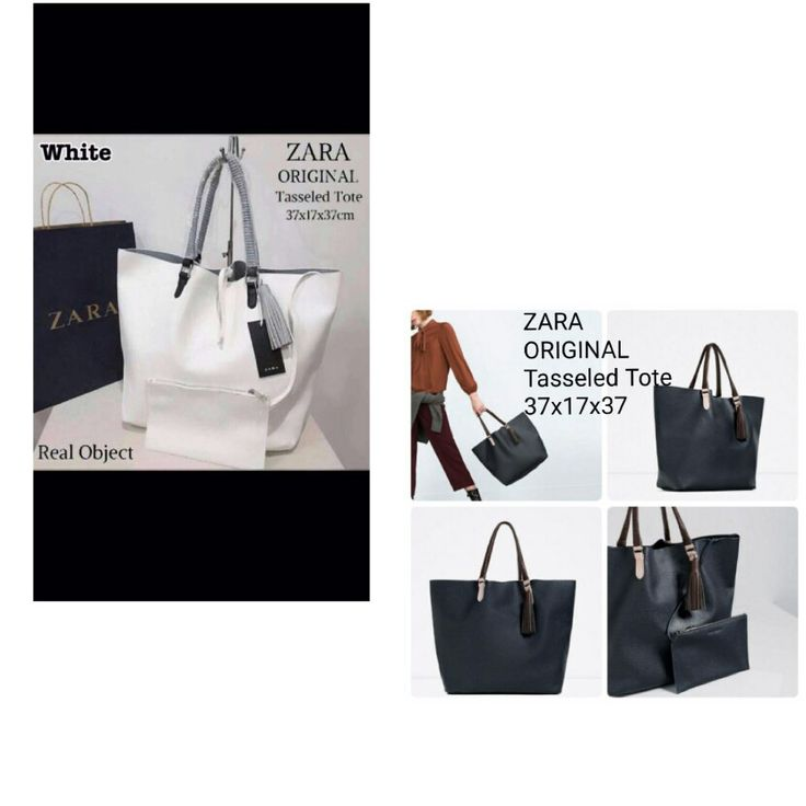 Tas zara Tasseled Tote Ori 6895 37x17x37 (free paper bag Zara) 255rb