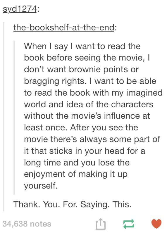 Plus you get all those delightful, precious details movies leave out, and may even miss meeting some invaluable friends of a literary nature that don't make it into the movie.