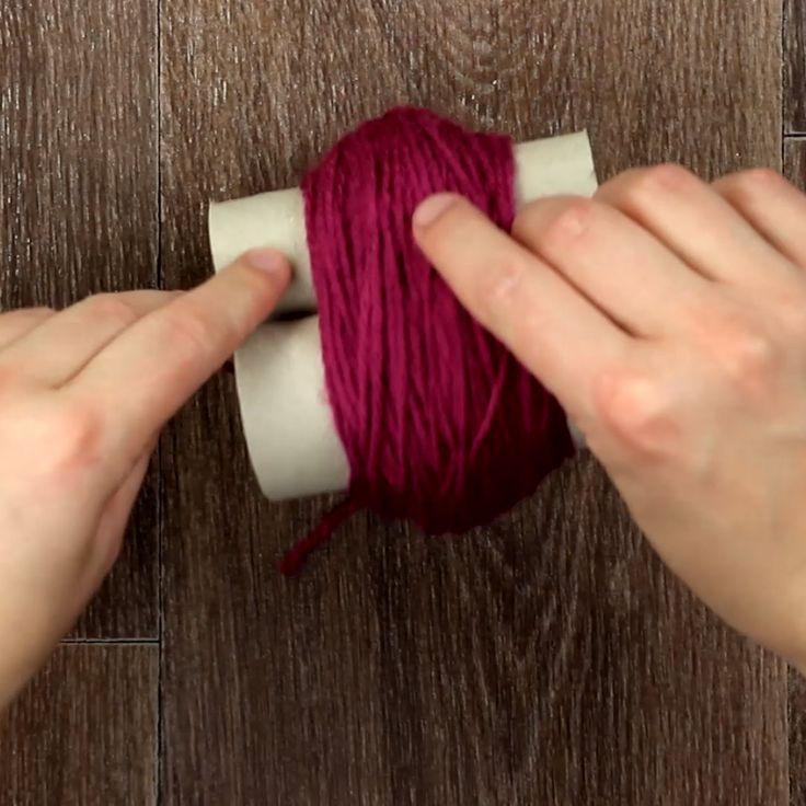 DIY-Teppich aus Bommeln