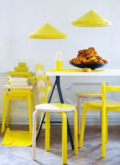 Arredi e accessori gialli - Sgabelli e lampadari a sospensione giallo