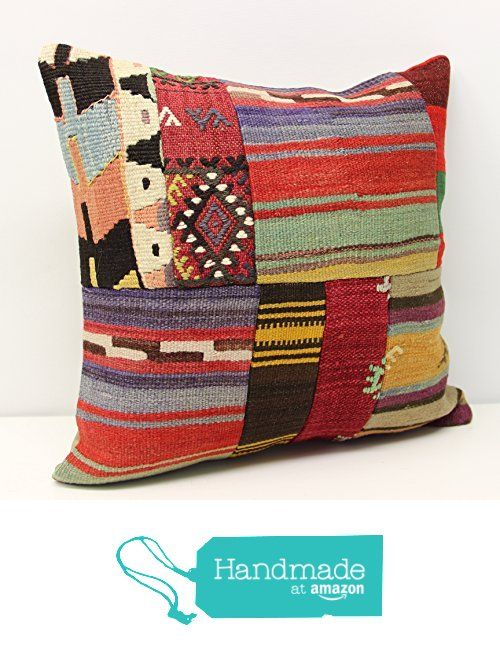 Modern Patchwork kilim pillow cover 18x18 inch (45x45 cm) Handmade Kilim pillow cover Office Decor Accent Hand woven Cushion Cover from Kilimwarehouse https://www.amazon.com/dp/B01N7O7HOD/ref=hnd_sw_r_pi_dp_zwLAybP5C06NC #handmadeatamazon