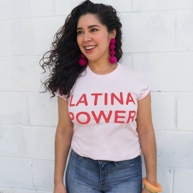 vanessa centeno in latina power t-shirt tee for google ghost new orleans planned parenthood benefit clothing