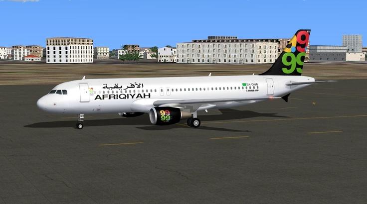Afriqiyah Airways Airbus A320-214 opb Adria Airways