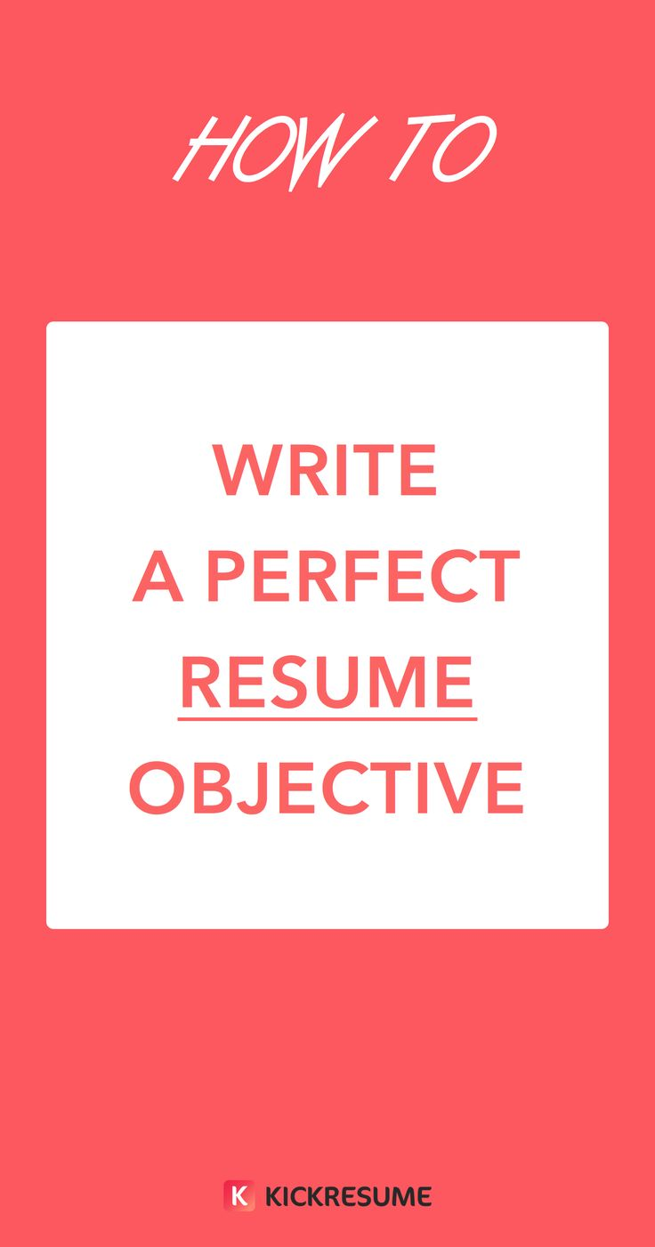 ideas about career objective examples how to write a perfect resume objective examples included