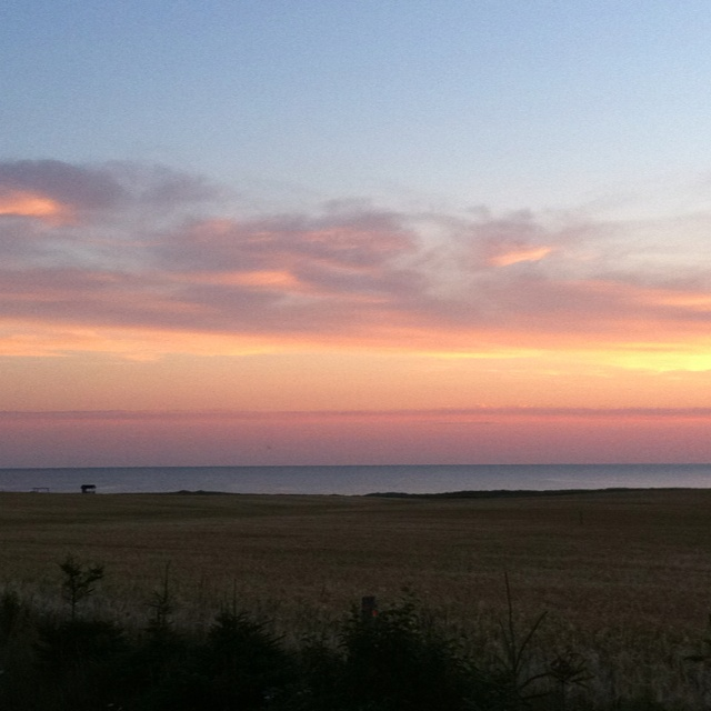 Sunrise on our final day in PEI.Sunris