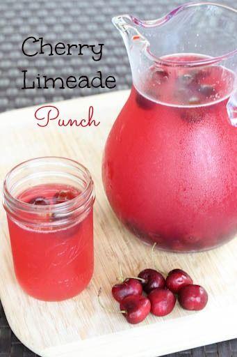 2 Liter Sprite, or lemon-lime soda ($1)     1 59 oz. jug of Simply Limeade ($2.29)     1 59 oz. carton of Minute Maid Cherry Limeade ($2, sale!)     Frozen cherries, for garnish ($1.50)