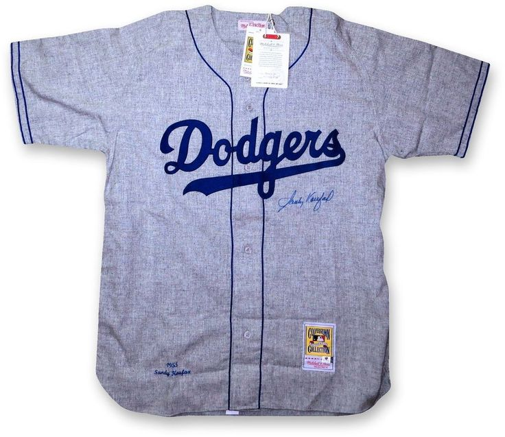 sandy koufax signed autographed 1955 mitchell & ness dodgers jersey gv731006 from $849.99