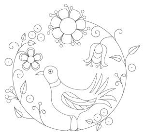 Bird Embroidery Pattern 1 pattern (from The Floss Box) ($1.25)…