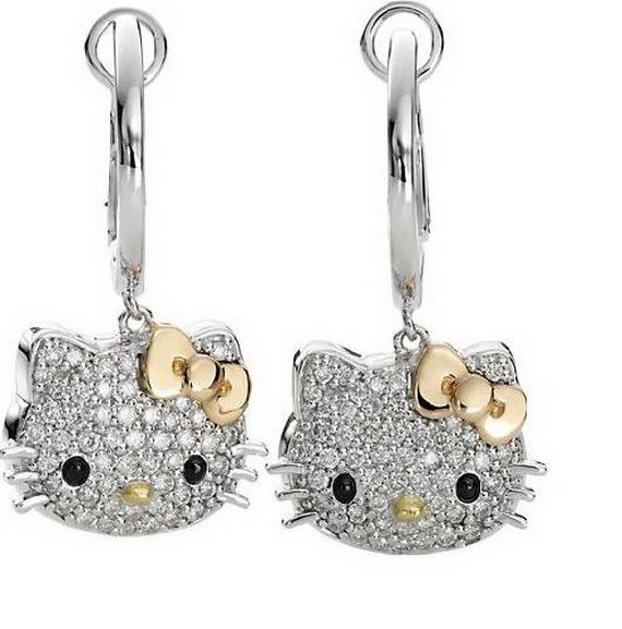 Diamond Earrings ɧєℓℓo Kiʈʈყ Pinterest Hello Kitty Jewelry And