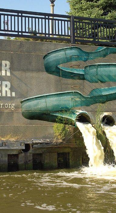 Waterslide street art