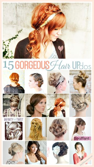 Are you going out tonight? Here are 15 Gorgeous Hair Updo Tutorials... beYOUtiful! #hair #beauty
