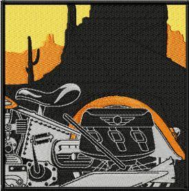 Retro Moto Label machine embroidery design. Machine embroidery design. www.embroideres.com