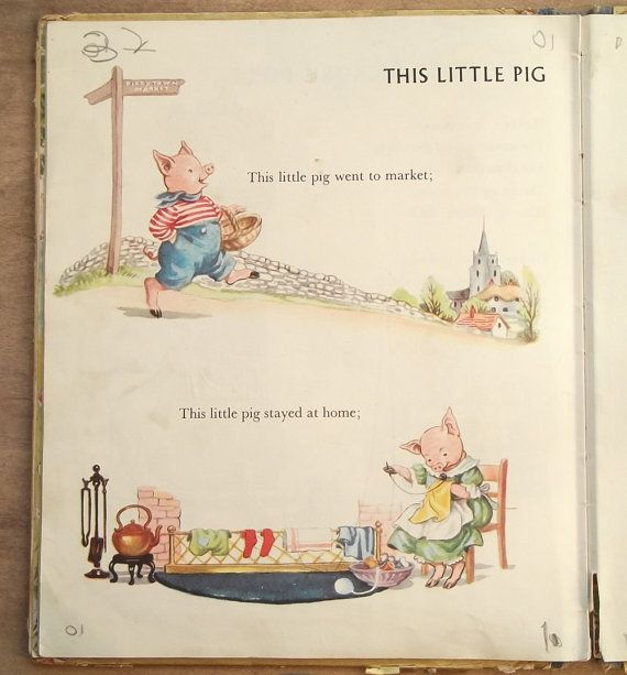 From Little Golden Book Of Nursery Rhymes 1950s