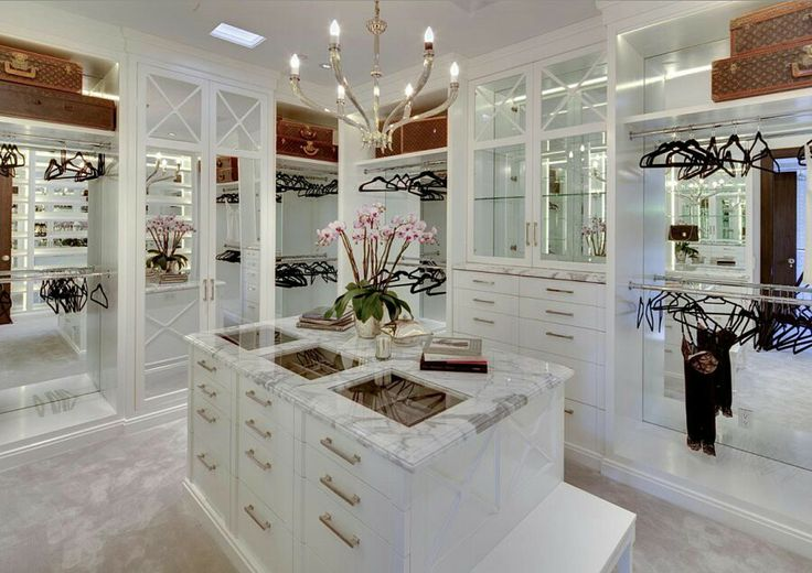 Beautiful White Closet With Marble Countertops Home Is