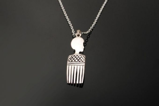 Afro Comb Pendant by Duke & Dutch