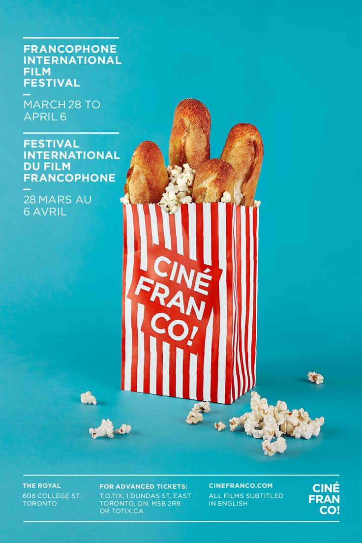Poster created by Co-Effect Creative Inc. for Cinefranco, Toronto's International French Film Festival.