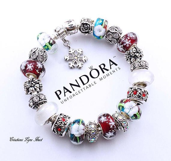 bracelet pandora argent complet